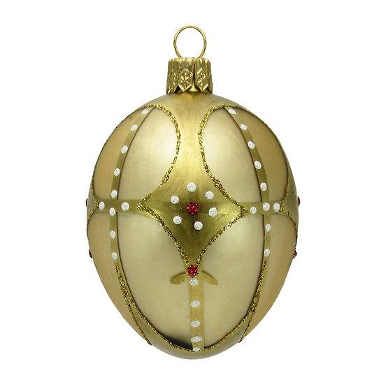 "#420 - Thomas Glenn ""Gold"" Mini Faberge Egg Ornament"