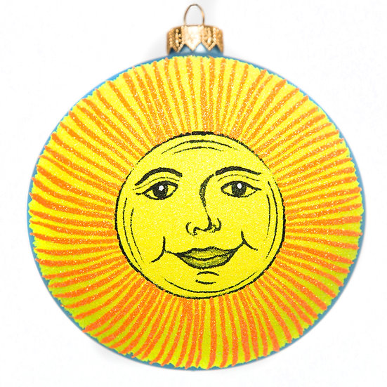 "#1621 - Thomas Glenn ""Sun and Moon"" Ball Ornament"