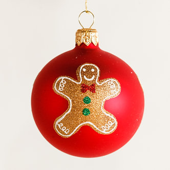 "#1875 - Thomas Glenn ""Gingerbread Men"" Mini Ball Ornament"