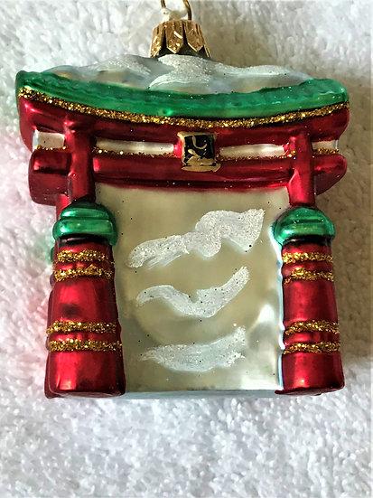 "#152 - Thomas Glenn ""Torii Gate"" Molded Christment Ornament"