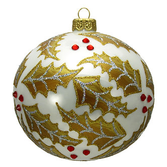 "#1628 - Thomas Glenn ""Holly Berries"" Ball Ornament"