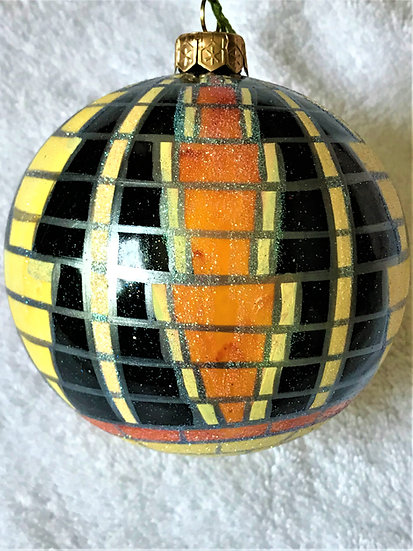 "#204 - Thomas Glenn ""Tiffany - Indian"" Ball Christmas Ornament"