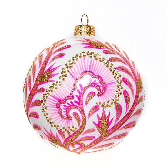 "#76HP - Thomas Glenn ""Hot Pink Canton"" Ball Ornament"
