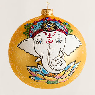 "#1864 - Thomas Glenn ""Ganesh"" Ball Ornament"