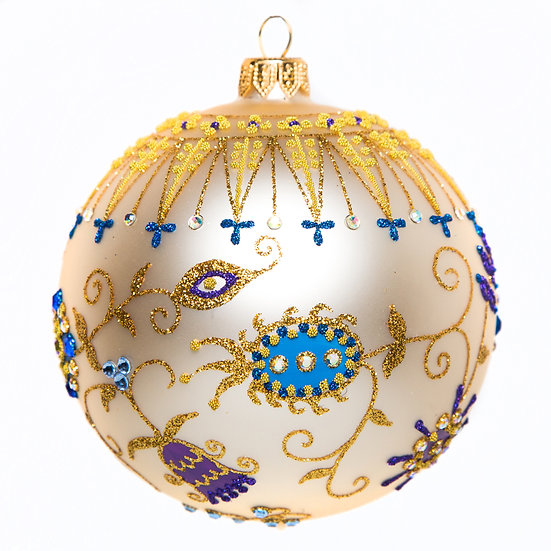 "#1765 - Thomas Glenn ""Brocade"" Ball Ornament"