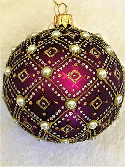 "#634PR-O ""Thomas Glenn ""Pearl - Purple Prototype"" Ball Christmas Ornament"