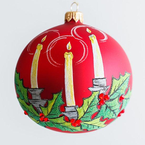 "#1950 - Thomas Glenn ""Candle Light"" Ball Ornament"