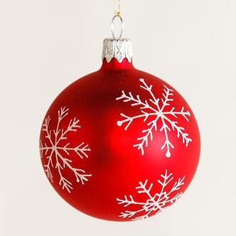 """#1877 - Thomas Glenn """"Snowflakes"""" Mini Ball Ornament"""