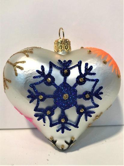 "#1916Heart - Thomas Glenn ""Heart - Blizzard"" Molded Christmas Ornament"