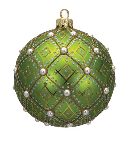 "#634DKG - Thomas Glenn ""Pearl Dark Green"" Ball Ornament"