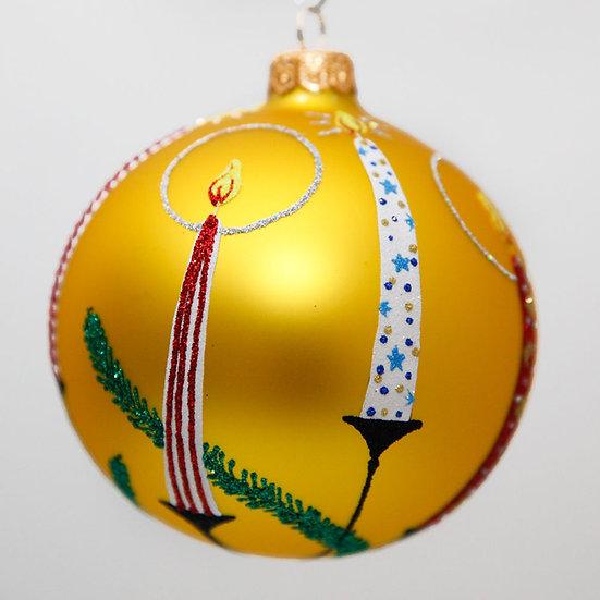 "#2046 - Thomas Glenn ""Candle Glow"" Ball Christmas Ornament"