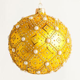 """#634Y - Thomas Glenn """"Pearl Yellow"""" Ball Ornament"""