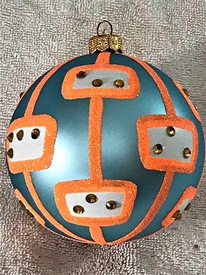 "#1613 - Thomas Glenn ""Pod - Hip"" Ball Christmas Ornament"