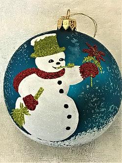 "#1941 - Thomas Glenn ""Mr. Snowman"" Ball Christmas Ornament"