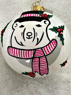 "#1832 - Thomas Glenn ""Top Hat"" Ball Christmas Ornament"
