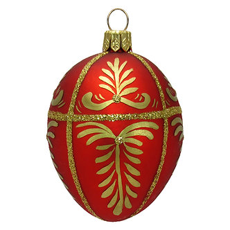 "#413 - Thomas Glenn ""Red"" Mini Faberge Egg Ornament"