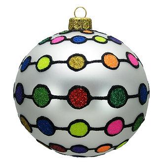 "#1604 - Thomas Glenn ""Gum Drop Garland"" Ball Ornament"