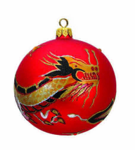 "#139 - Thomas Glenn ""Red Dragon Ball"" Ornament"