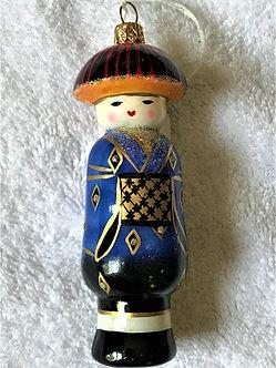 "#171 - Thomas Glenn ""Kokeshi Boy"" Molded Holiday Ornament"