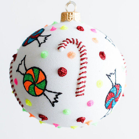 "#1936 - Thomas Glenn ""Candyland"" Ball Ornament"