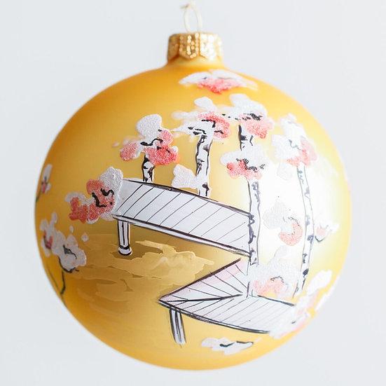 """#1967 - Thomas Glenn """"Aki - Autumn"""" Ball Ornament"""