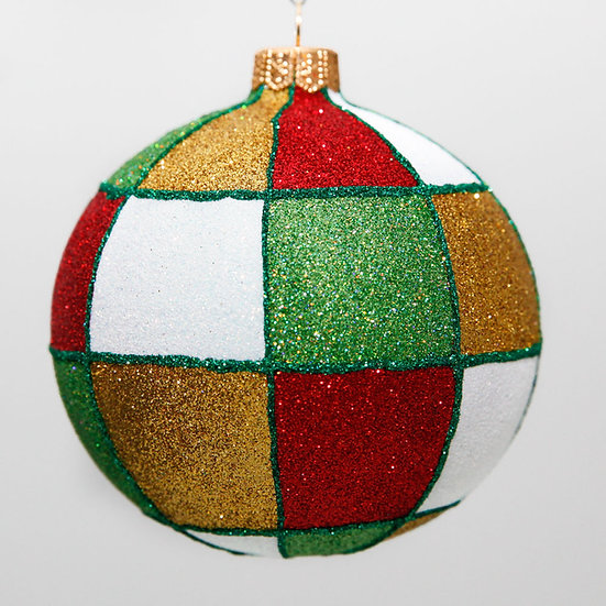"#2098 - Thomas Glenn ""Checkered Past"" Ball Christmas Ornament"