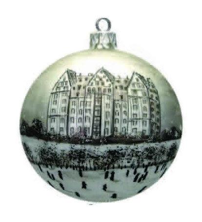 """#913 - Thomas Glenn """"The Dakota"""" Ball Ornament"""
