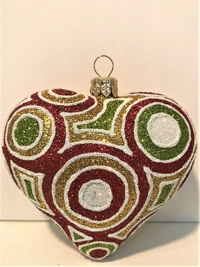 "#1823Heart - Thomas Glenn ""Hypnotized - Heart"" Molded Christmas Ornament"