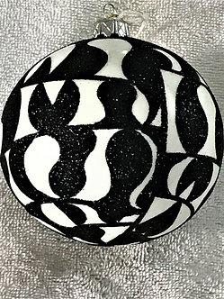 "#1629 - Thomas Glenn ""Modern Graphic"" Ball Christmas Ornament"