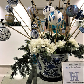 Blue & White Ornaments Are Huge Thomas Glenn Holidays Sellers!