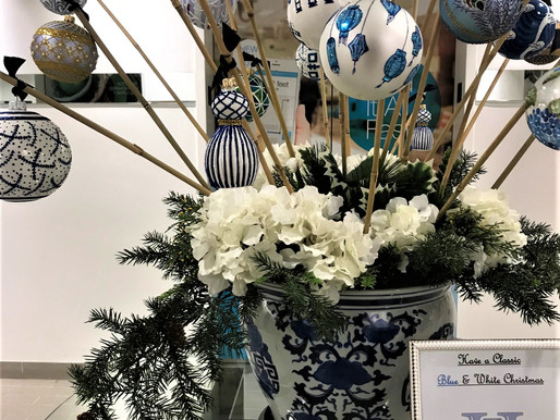 Blue & White Ornaments Are Huge Thomas Glenn Holidays Sellers!