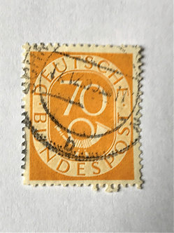 "Stamps ""West Germany #683"" 70pf yellow - Used"