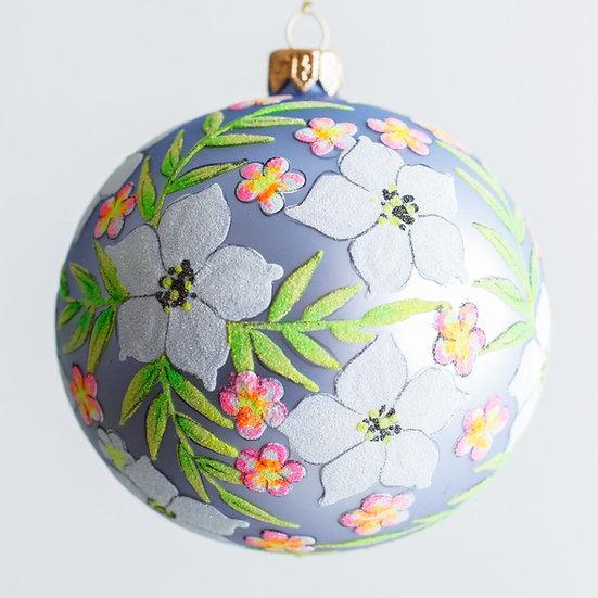 """#1939 - Thomas Glenn """"Tropical Bouquet"""" Ball Ornament"""