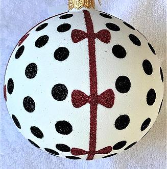 "#1948 - Thomas Glenn ""Red Bow"" Ball Christmas Ornament"