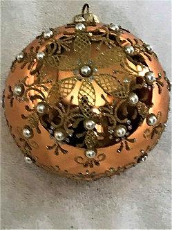 "#774 - Thomas Glenn ""Jewel Snowflake Gold"" Ball Christmas Ornament"