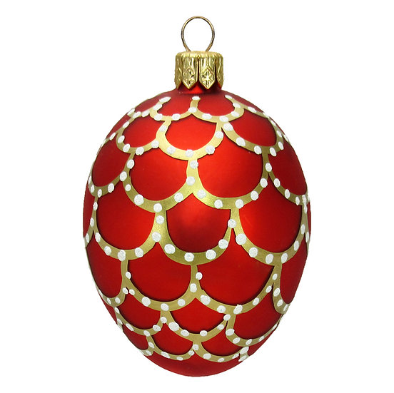 "#410 - Thomas Glenn ""Red"" Mini Faberge Egg Ornament"