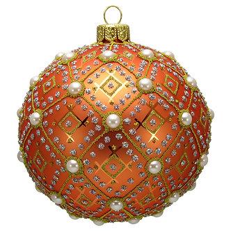 "#634O - Thomas Glenn ""Orange Pearl"" Ornament"
