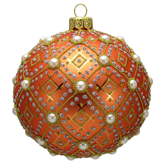 "#634O - Thomas Glenn ""Orange Pearl"" Ornament"
