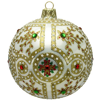 "#820W - Thomas Glenn ""Palace White"" Ball Ornament"