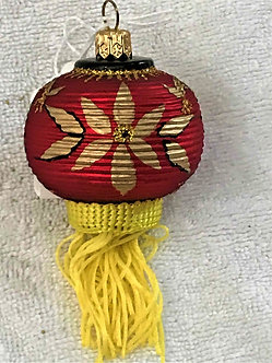 "#800 - Thomas Glenn ""Lantern with Fringe - Red"" Small Christmas Ornament"