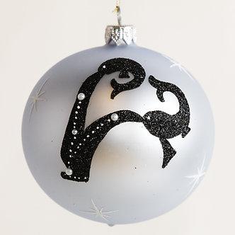 "#1854 - Thomas Glenn ""Pisces"" Zodiac Christmas Ball Ornament"