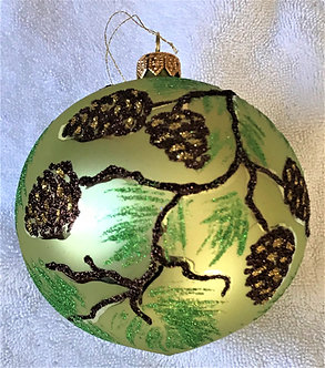 "#1942 - Thomas Glenn ""Conifer"" Ball Ornament"