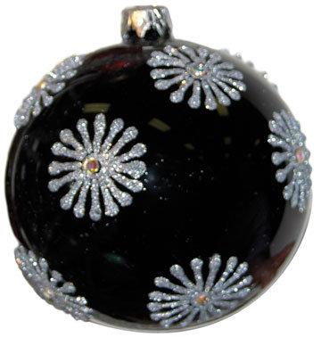 "#726PT - Thomas Glenn ""Platinum Black"" Ball Ornament"