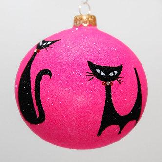 "#2047 - Thomas Glenn ""Meow"" Ball Christmas Ornament"