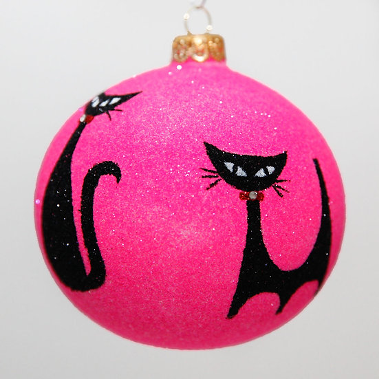 "#2047 - Thomas Glenn ""Meow"" Ball Christmas Ornament"