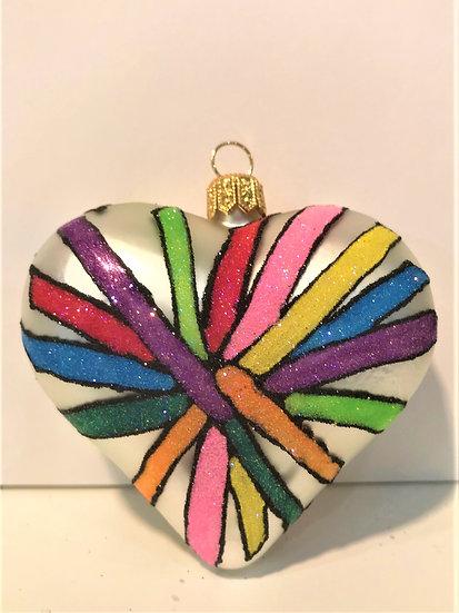 "#1900Heart - Thomas Glenn ""Heart - Twisted"" Molded Christmas Ornament"