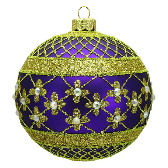 "#635PUR - Thomas Glenn ""Purple Coronation"" Ball Ornament"