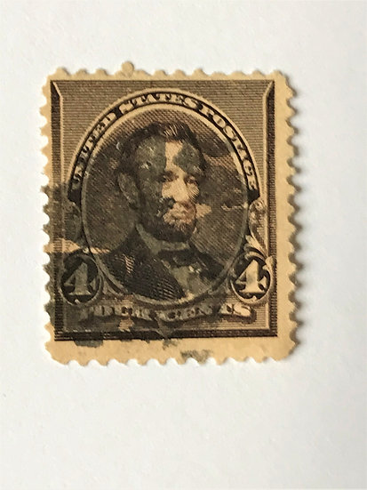 "Stamps ""US 1890-93 Lincoln Scott #222"" 4c dark brown"