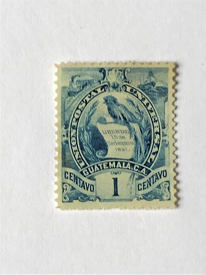 "Stamps ""Guatemala #31"" 1c dull blue, Used"