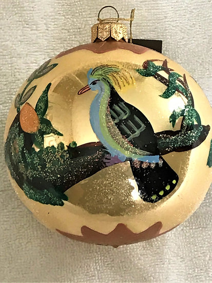 "#69 - Thomas Glenn ""Sevres Ball Gold"" Ball Christmas Ornament"